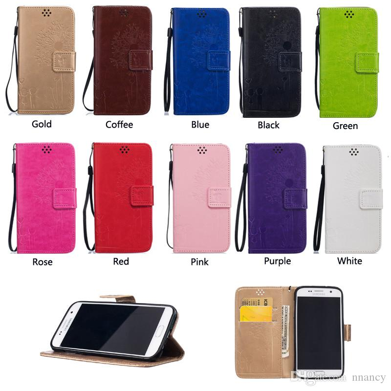Christmas Gift Case For Iphone 5 6 7 8 Plus Touch 5 Case Fashion Advanced Lovers pattern Wallet Case Flip Stand Retail Package