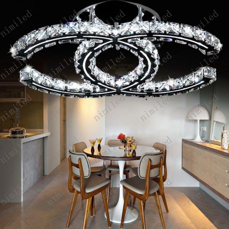 nimi788 Modern Clear Crystal Lampadari LED Soffitto Soggiorno Luci Camera da letto Lampade Abbigliamento caldo Negozio Apparecchiature Droplight ristorante