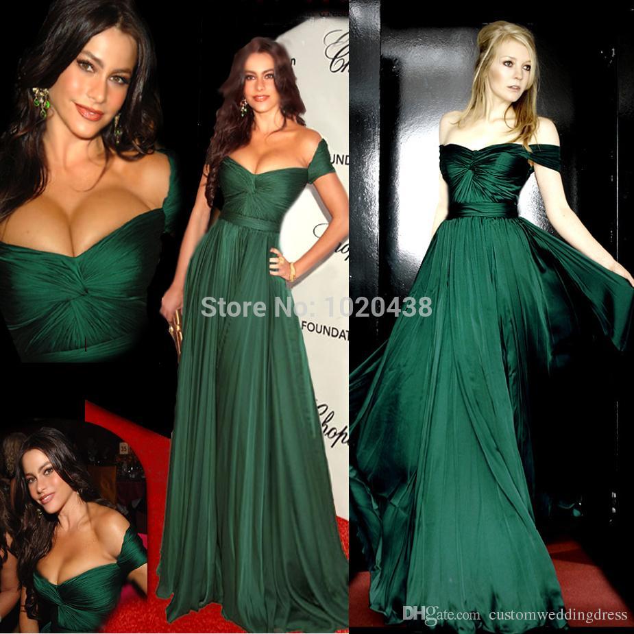 Nueva llegada 2018 Elie Saab una línea de novia Emerald Green una línea de vestido de noche largo Prom Party vestidos Vestido de Festa