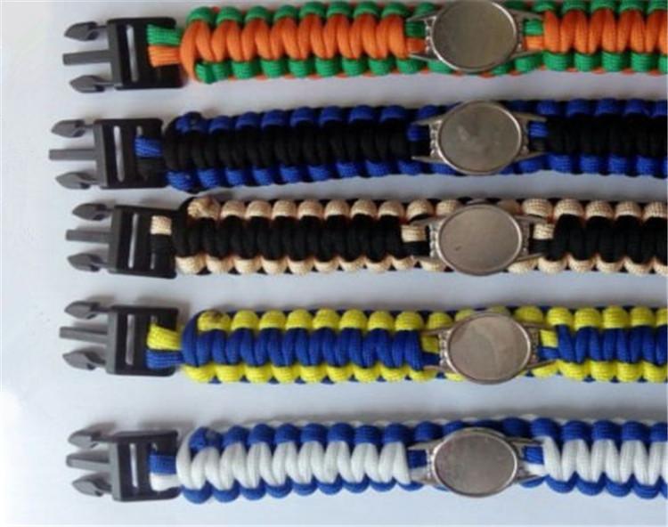 مزيج أنماط كرة القدم فريق Paracord بقاء أساور مخصص التخييم الرياضة سوار تخصيص شعار فريق مظلة سوار