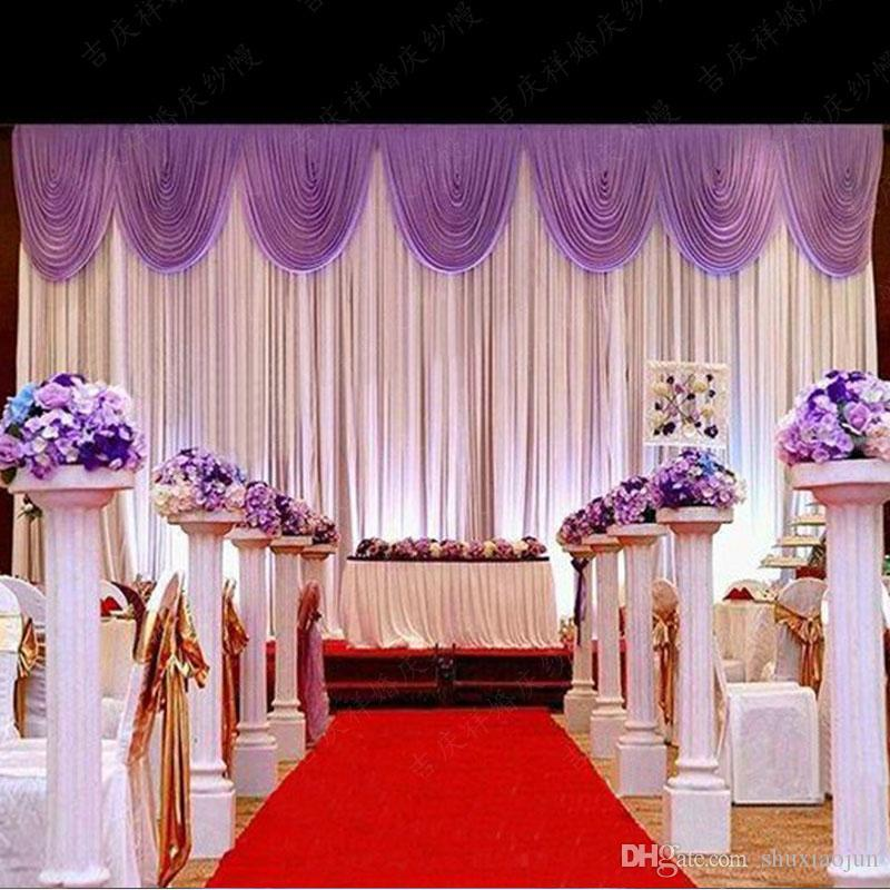 Hot Sale Wedding Backdrop Curtain Beautiful Wedding Decorations 6m