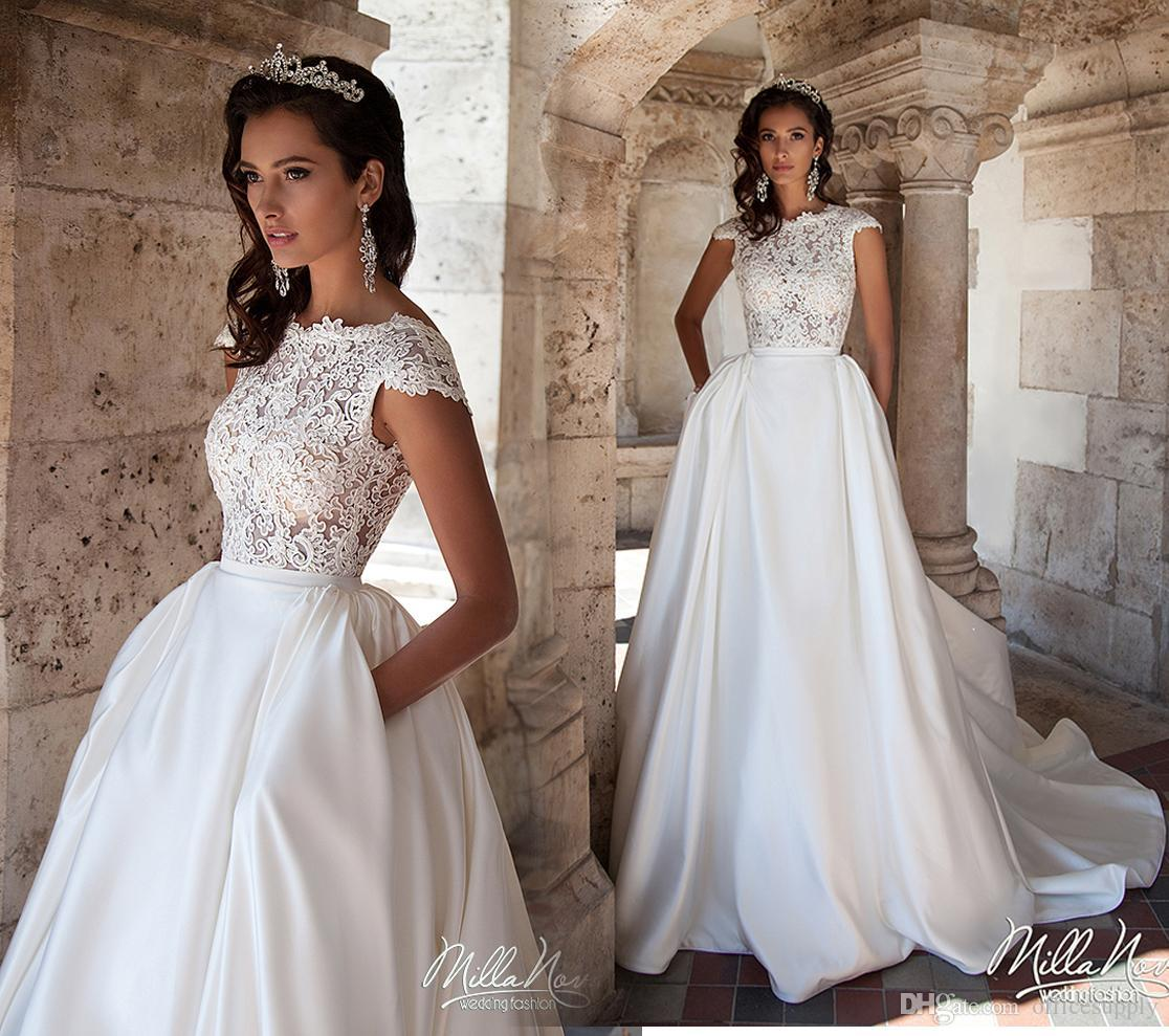 Cheap Wedding Dresses For Sale: Discount 2017 New White A Line Wedding Dresses With