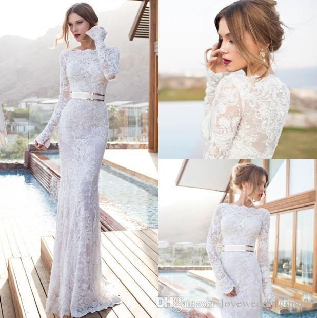 Vestido De Novia 2017 Modest Full Lace Wedding Dresses