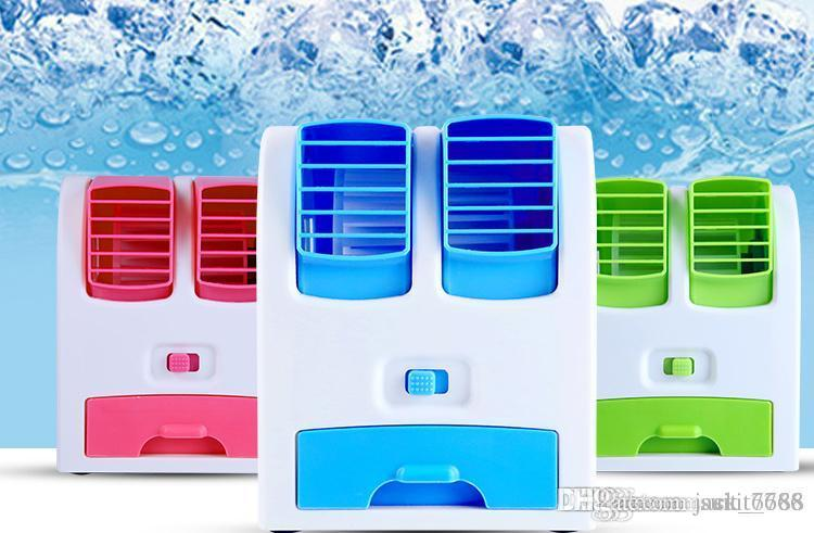 USB Mini Portable Air Conditioning Fan Small Fan Rechargeable Students Small  Office Desktop Without Leaves Refrigeration Usb Bladeless Fan Online With  ...