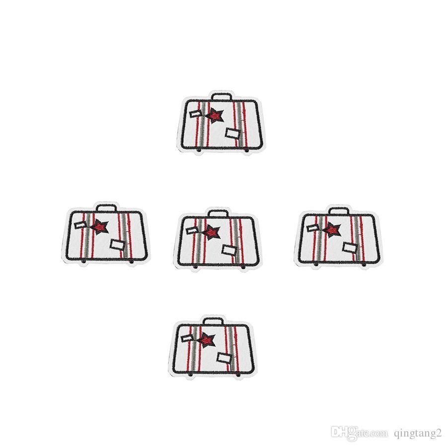 10 UNIDS parches de bordado de tronco para la ropa parche de hierro para apliques de tela accesorios de costura pegatinas insignia en hierro de la ropa en parches DIY