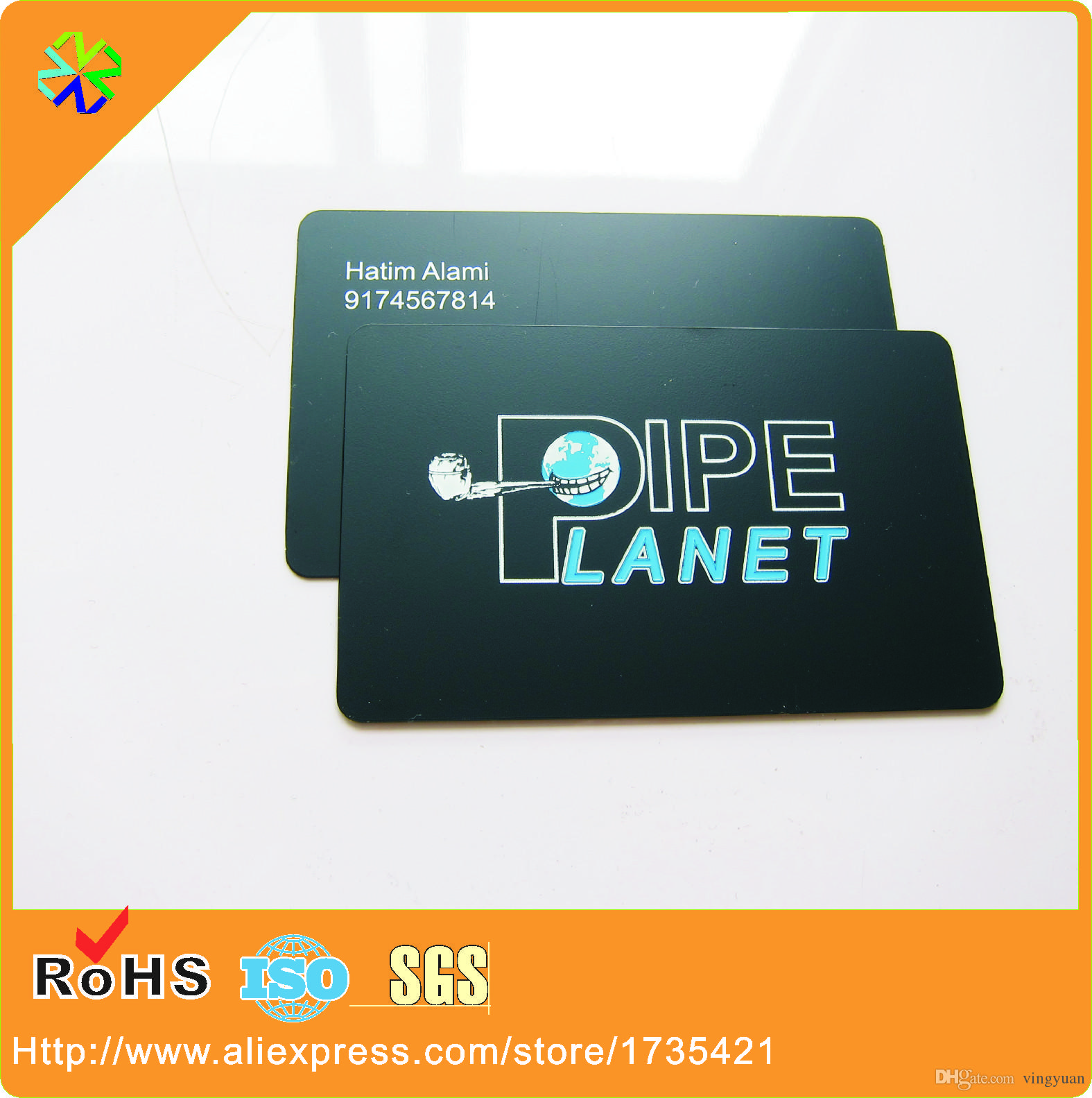 Factory price high grade pipe logo plated with matte black metal factory price high grade pipe logo plated with matte black metal cards printing for ceo black metal cards black metal business cards metal cards black reheart Image collections
