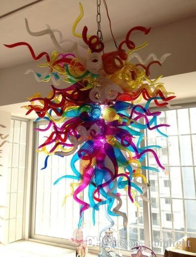 Lampadario in cristallo C69-moderno e multicolore, lampadario decorativo di grandi dimensioni in vetro soffiato colorato a mano, lampadario turco e lampade a sospensione