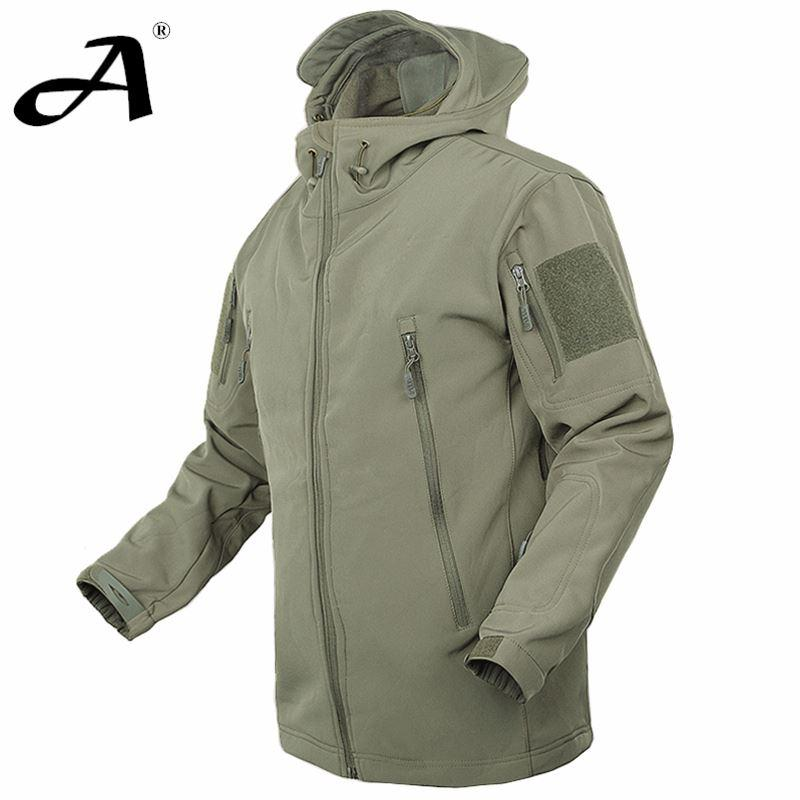 V 4.0 Men Outdoor Hunting Camping Waterproof Coats Jacket Army ...
