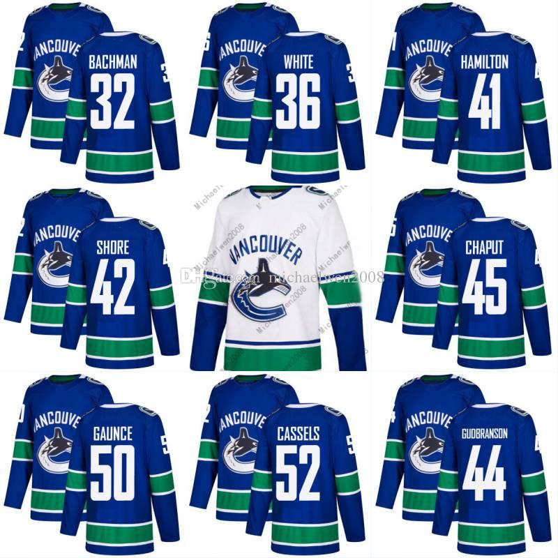 89890333e ... Customize Vancouver Canucks Jerseys HomeAway 2017-2018 Season Vancouver  Canucks Jersey Blank 32 Richard Bachman 36 Ryan White 41 Wacey ...
