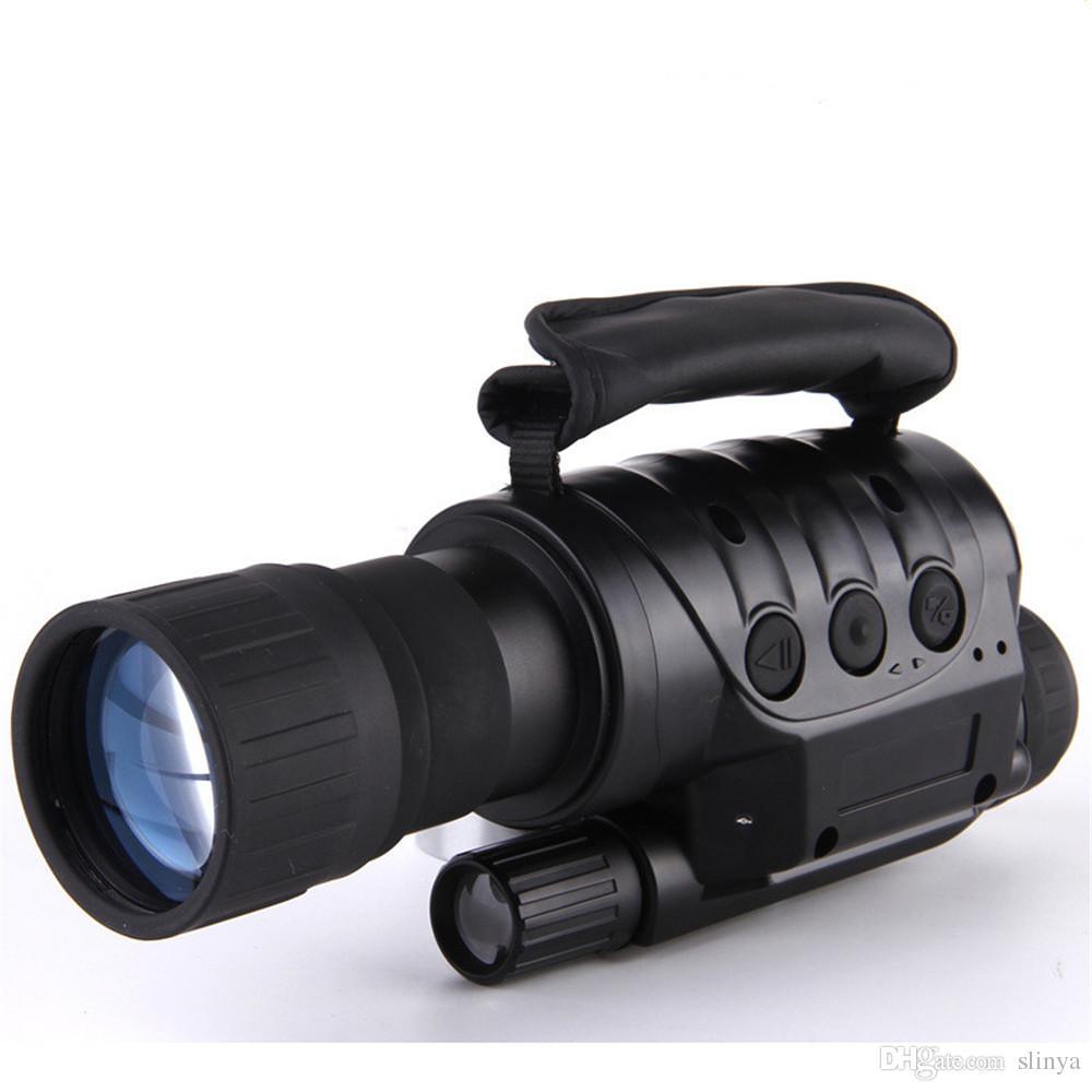 Professional 6x50 Visore Notturno a Infrarossi Digital Video Goggle no Telecamera termica Telescopio NV760D + TDN IR 6x Zoom HD Caccia Monoculare
