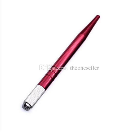Серебряный бренд сплава профессиональный перманентный макияж руководство Pen 3D бровей вышивка ручной татуировки MicroBlading Pen