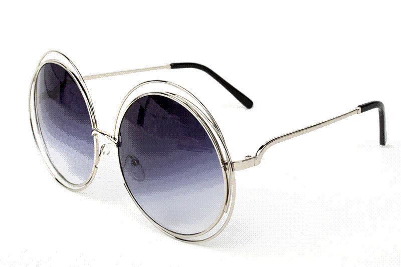1b3058eceb43 New Big Circle Round Frame Brand Designer Sunglasses Bicyclic Female  Fashion Personality Oculos Feminino Sun Glasses Fo Women Smith Sunglasses  Sunglasses At ...