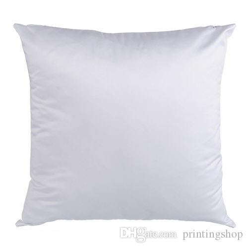 White Diy Blank Sublimation Pillow Case Square Back