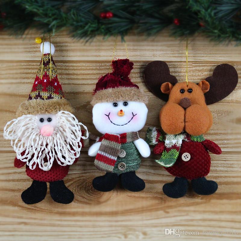 Рождественские украшения творческий Санта-Клаус снег олень кулон рождественские украшения подарки детские игрушки