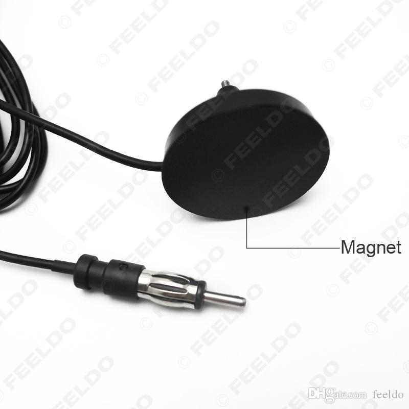 FEELDO coche universal de montaje en techo Base Magnética Radio AM / FM Antena # 2606