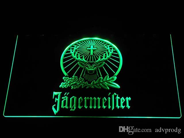 Plaques & Signs 2019 Latest Design Lr061 Jagermeister Deer Head Led Neon Sign Pure White And Translucent Home Decor