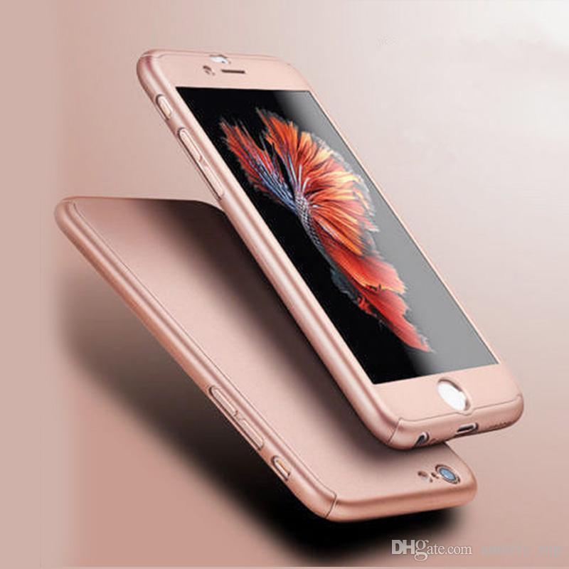 Ultradünne 360-Grad-Full-Cover-Handyhülle für iPhone 11 PRO Xs Max Xr 8 7 Samsung Note10 S10 S9 plus mit gehärtetem Glas-Displayschutz