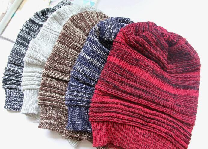 2016 neue Mützen Unisex Stricken Baggy Beanie Beret Falten stricken Strickmütze Winter Warme Woolen Mode Übergroße Hip-Hop Ski Caps HJIA1051