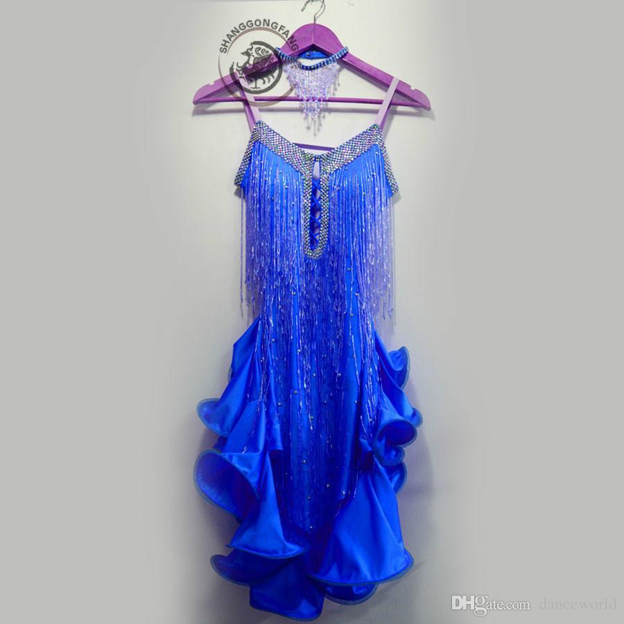 2019 dult / детский костюм для бальных латинских танцев сексуальные красные блестки кисточка конкурс латинских танцев платье женщины ребенок латинские танцы платья S-4XL
