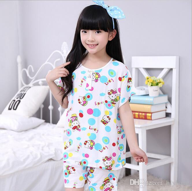 46cae892786f9 Kids Girl Cotton Pajamas Baby Clothes Set Children Sleeping Wear Children  Sleeping Wear Set Girl Nightwear Homewear For 1 3T Canada 2019 From  Lilykang