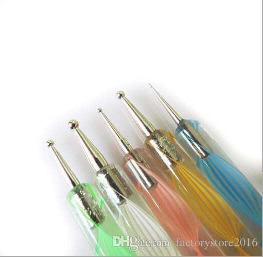 20 stücke Nail art Design Pinsel Kit Nagelneu Nagelgelpoliermittel Art Styling Acryl Pinsel Set Nail art Salon Malerei Punktierung Stift Werkzeuge
