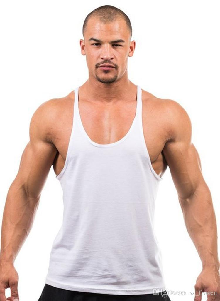 Cotton Stringer Bodybuilding Equipment Fitness Gym Tank Top shirt Solid Singlet Y Back Sport clothes Vest Free Ship A-0383