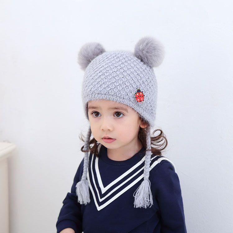 2019 Girls Boys Crochet Hats Cute Knitted Kids Capshandmade Hat