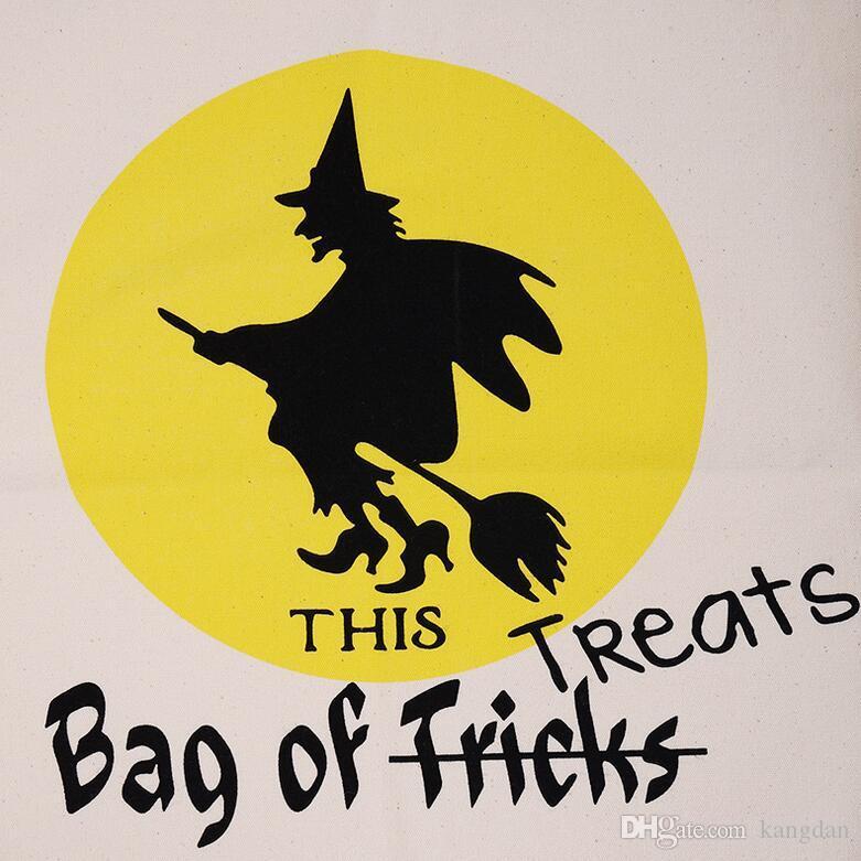 Sacchetti regalo di Halloween Borse di tela di cotone di grandi dimensioni Sacchetti di regalo di caramelle di Natale Sacchi bambini Borsa bambini