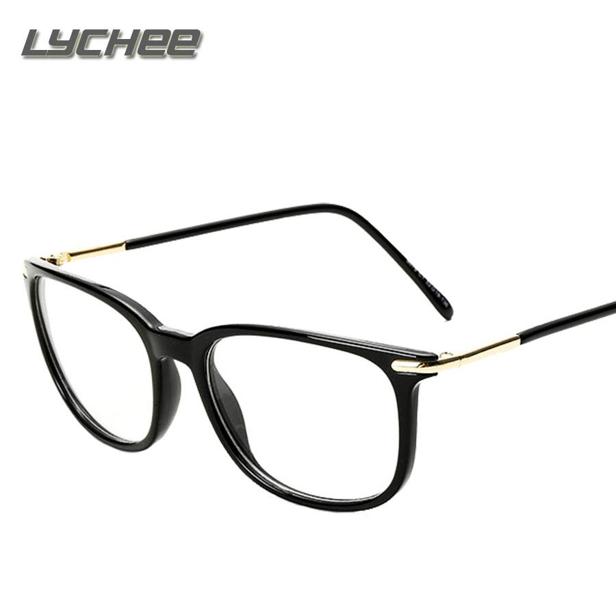 0cabf6045da Wholesale- LYCHEE Spectacles Frame Eyewear For Women Men Brand Designer  2016 Clear Optical Computer Reading Glasses Frames Oculos Eyewear for Women  Frames ...
