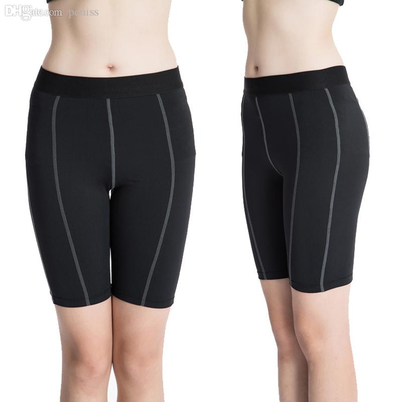 Wholesale-P30 2016 New Women's Plus Size S-XXL Sports GYM Compression Wear Base Layer Running Yoga Shorts Tight Skin Sportswear Fitness
