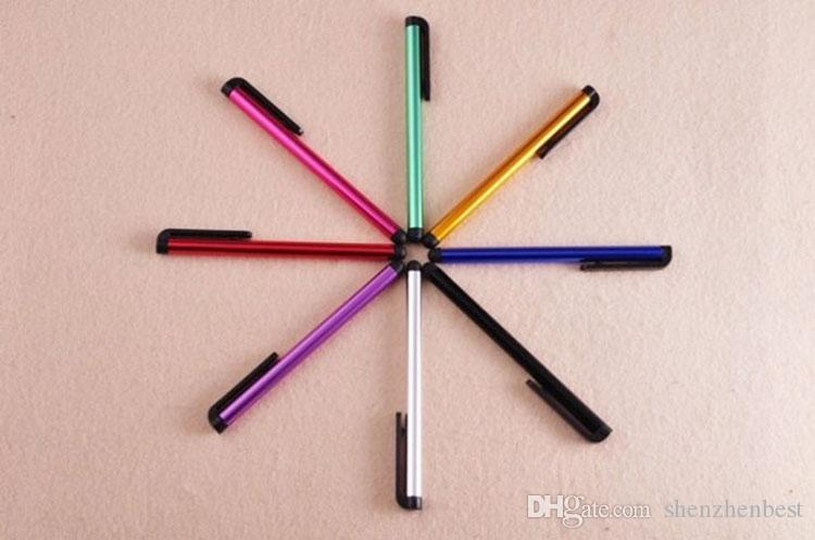 Tablet Farklı Renkler İçin Cep Telefonu için iPhone5 5S dokunmatik kalem için Toptan / Evrensel Kapasitif Stylus Kalem