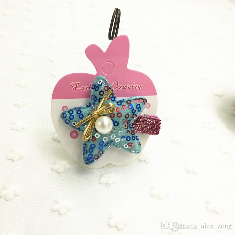 3 Styles Hot Charm Bowknot Flower Dot Hair Clip Hair Claws Bow Hair grips Hanging Card Display Tag