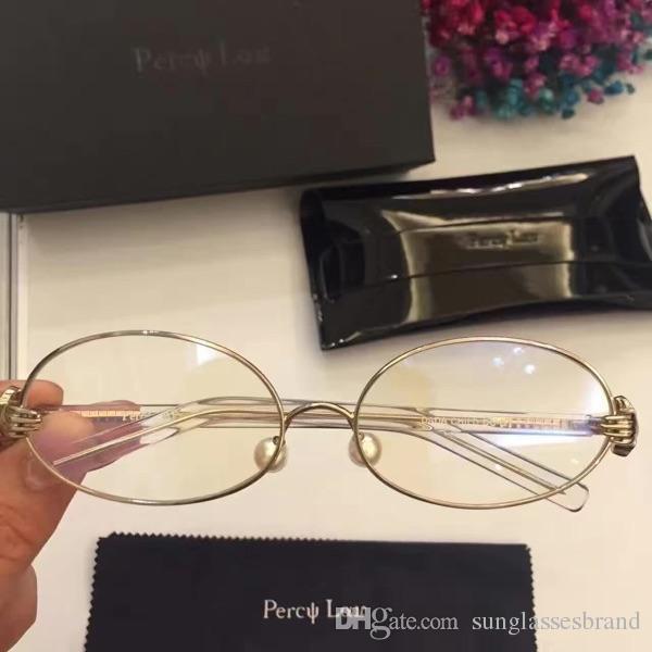 f455f35802 Percy Lau 2018 Oval Eyeglasses Women Fashion Pearls Eyegalsses Luxury Brand  Sunglasses Myopia With Original Box Super Sunglasses Victoria Beckham  Sunglasses ...