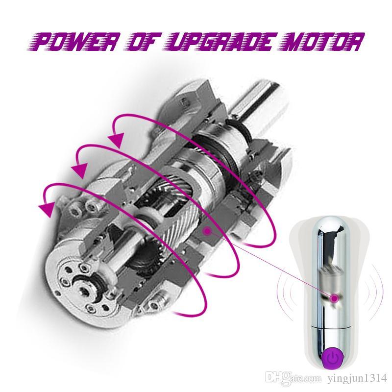 Rechargeable Strong Adult Sex Product USB vibrator 10 Speed Vibrating Mini Bullet Shape Waterproof Vibrator G-spot Massager