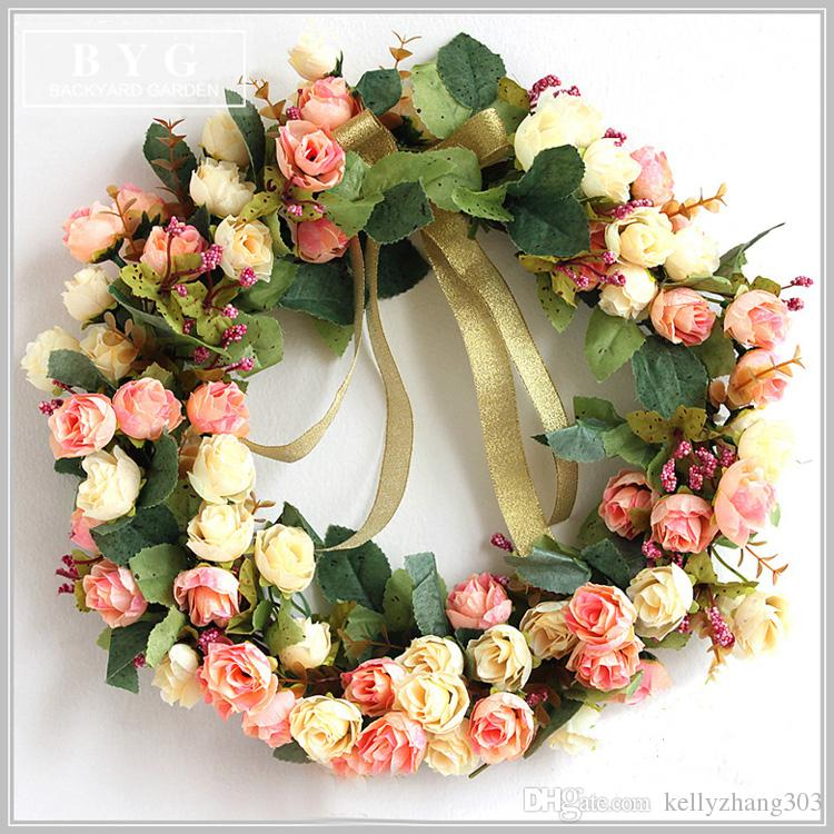 2018 unqiu dropshipping vintage handmade silk flower wreath silk 2018 unqiu dropshipping vintage handmade silk flower wreath silk rose wreath memorial wreath from kellyzhang303 2815 dhgate mightylinksfo