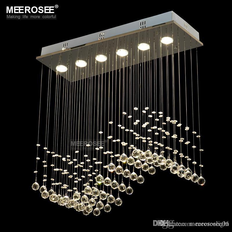 Fast Crystal Chandelier Light Curtain Wave Fitting For Dining Room Bedroom Foyer And Ceiling Md8495 Table Lamps Black