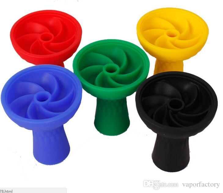 Black whirlwind Silicone Head Holder Smoking Accessory Nargile Charcoal Water Pipe Smoking Silicone Shisha Hookah Bowl head