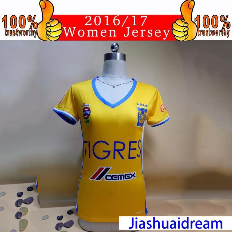 2019 2017 Women Jerseys Tigres UANL Jersey 2016 17 Mexico Club Tigers Rugby  Jersey Home Yellow GUERRON GIGNAC DUENAS Woman Football Shirt From  Jiashuaidream ... 69fcc488e