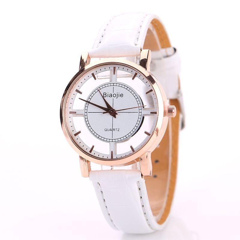 2017 New Casual Women Pu Leather Watch Ladies Classic Analog Quartz Wrist Watch  Woman Trend Quartz Dress Watch Casual Watches For Less Nice Watches From ... 9990700d2e6a