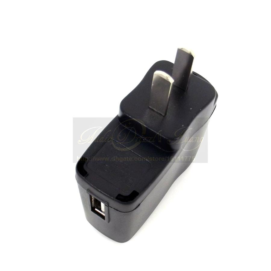 Quality Wholesale Universal Travel Power US Plug Adapter USA Converter AC Usb Wall Charger Adaptor Connector For PC Mobile Phone MP3 MP4