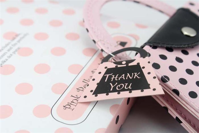 Livraison gratuite Faveurs de mariage Rose Polka Dot Purse Manucure Set Nuptiale Douche Cadeau Pédicure Kit Pour Invité