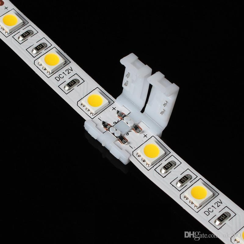8mm 3528 및 10mm 5050 smd 및 4pin DC RGB 5050 LED 스트립에 대 한 최신 led 스트립 커넥터