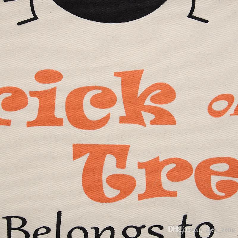 2017 тема Хэллоуин Большой холст мешки хлопка Drawstring мешок с Тыква дьявола паук Hallowmas Подарки Sack Сумки 9 Стили Свободный DHL