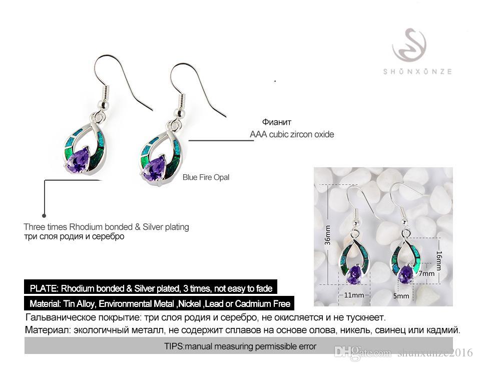 Kupfer rhodiniert Romantische Ohrringe Blaue Zirkonia und Blauer Opal MN4100 Shinning Bestseller Explosionsmodelle Das neue Angebot CUte