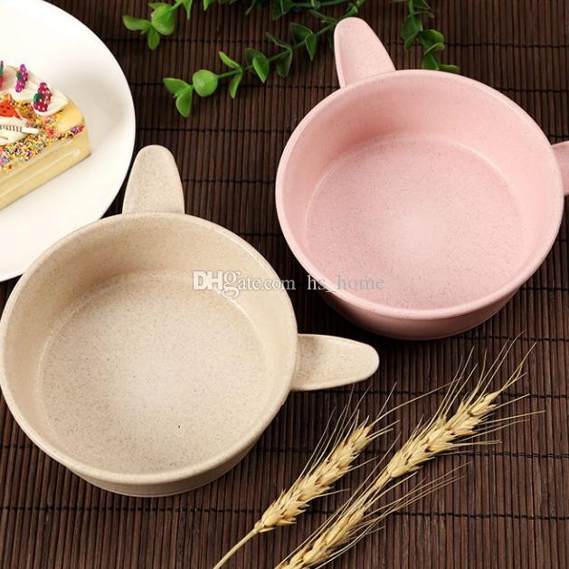 El juego de alta GualityNatural Wheat Straw Bowls + Panda Spoons no contiene metales pesados ni ingredientes químicos para el medio ambiente y más saludable.