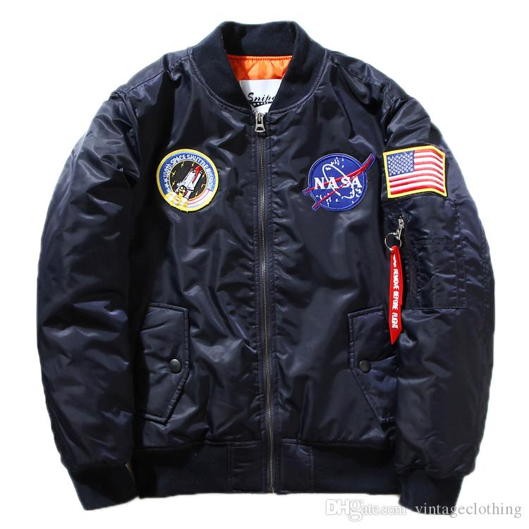 Fall-Flight Pilot Jacket Coat Bomber Ma1 Men Bomber Jackets Embroidery Baseball Coats M-XXL