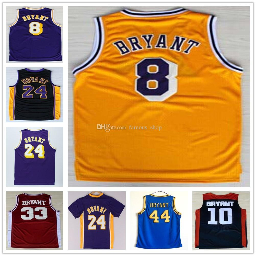 7718564e580e ... 2017 Cheap 24 Kobe Bryant Jersey Yellow White Purple Black Throwback 8 Kobe  Bryant Basketball Jerseys ...