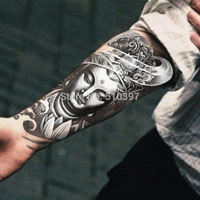 Pc/AX27,Armband Temporary Tattoo/Mysterious Women Buddha