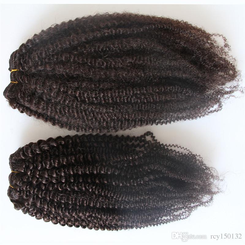 البرازيلي نسج الشعر حزم 2 قطعة الأفرو غريب مجعد الشعر 8-28 بوصة غير ريمي الشعر البشري يمكن شراء 2 حزم أو 4 قطع