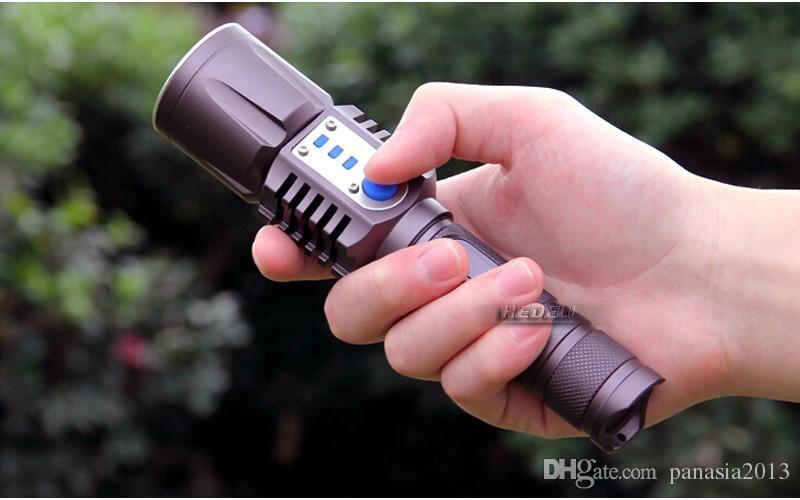 Neue Ankunft aufladbare USB führte Taschenlampe Cree XM-L2 Laterne-hohe Leistung-Fackel 3800 Lumen Zoomable grelles Licht Laterne Taktisches Fahrrad